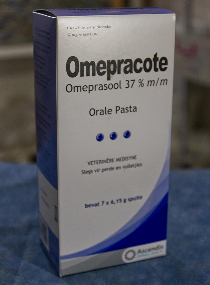 Omepracote for rhinos